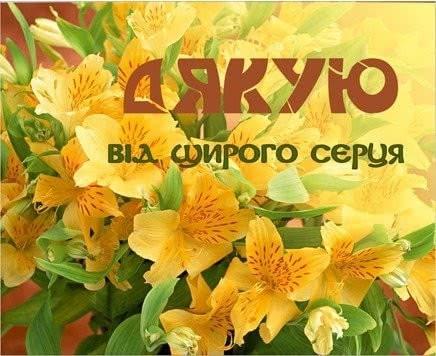 Красиві cлова подяки  українською мовою